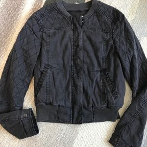 {Anthropologie} Hei Hei Dark Grey Bomber Jacket